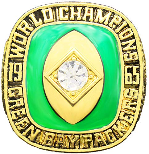 NMABY Rugby 1965 Packers Super Bowl Ring Touvenirs Movimiento de fútbol Americano Anillo 11# Ring