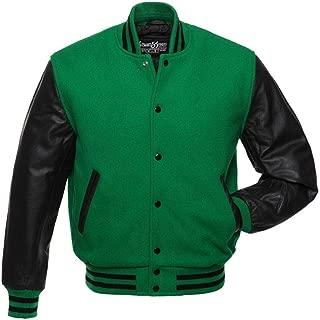 Original Varsity Letterman Jackets (48 Team Colors) Wool & Leather XXS to 6XL