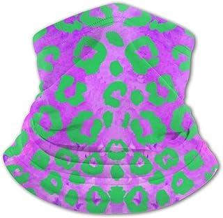 Pasamontañas para el cuello con estampado de leopardo morado, protección UV, protección contra el viento, multifunción, pa...