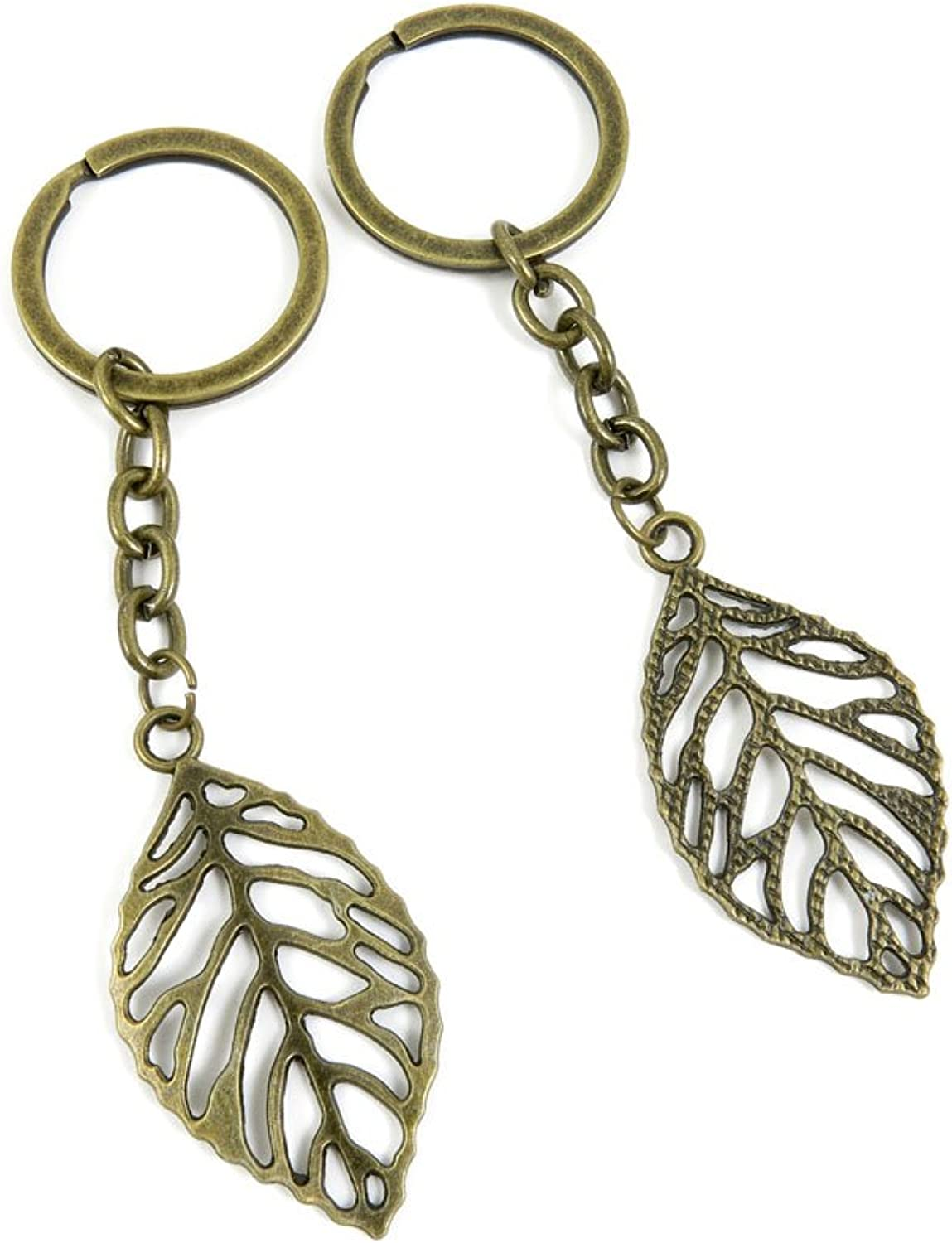 180 Pieces Fashion Jewelry Keyring Keychain Door Car Key Tag Ring Chain Supplier Supply Wholesale Bulk Lots F8WH0 Leaf