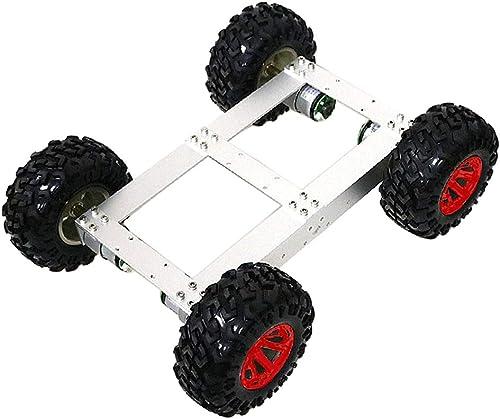 SM SunniMix Roboter Chassis Plattform Fahrgestell Modellbausatz für DIY Ferngesteuertes Auto, Geschenk für Freunde und Kinder - Rotes Rad
