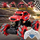 RC Car,Remote Control Car Monster Truck Toys High Speed RC Stunt Climbing Car for Boys 1:20 Scale Off Road Stunt Car Outdoor Electric RC Truck Rechargeable RC Drift Racing Car for Kids Adult Red