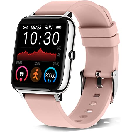 """Donerton Smart Watch, Fitness Tracker for Women, 1.4"""" TFT LCD Screen Smartwatch with Heart Rate and Sleep Monitor, IP67 Waterproof Activity Tracker with Pedometer, Fitness Watch for Android and iOS"""