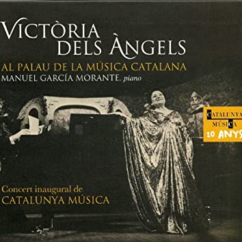 Victoria de los Ángeles al Palau de la Música Catalana. Concert inaugural de Catalunya Música