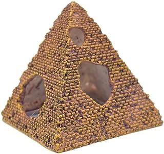 Amakunft Egyptian Pyramids Resin Aquarium Ornament, Reptile Shrimp Fish Hideouts Hiding Cave Fish Tank Landscaping Ornament (3 Packs)