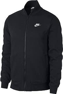 Mens Sportswear Club Bomber Jacket Black/White 928461-010 Size Large