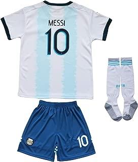 AFA Argentina Messi #10 Home Football Soccer Kids Jersey Short Socks Set Youth Sizes