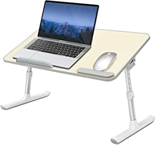 IBAMA Portable Laptop Stand Table Height And Angle Adjustable Desk Folding Table For Writing In Bed, Sofa And Couch With A...