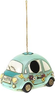 Wonders Beyond New Resin Hanging Bird House Garden Decoration for Outdoor - Cutie Beetle Volkswagon car Blue