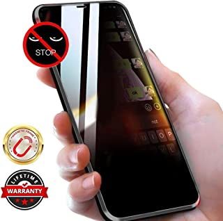WiaNing Anti Peeping Magnetic Case for iPhone XR, Privacy Case with Clear Double Sided Tempered Glass [Magnet Absorption Metal Bumper Frame] 360°Protection for iPhone XR Black