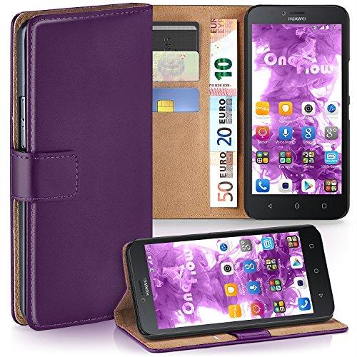 MoEx Premium Book-Case Handytasche kompatibel mit Huawei Y625 | Handyhülle mit Kartenfach und Ständer - 360 Grad Schutz Handy Tasche, Lila