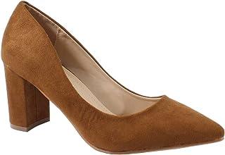 993b9fbf29713b by Shoes - Escarpin Talon Carré Style Daim - Femme