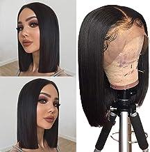 Human Hair Lace Front 13×4 Wigs Bob 10 Inch 130 Density Brazilian Virgin Human Hair..