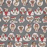 Fabulous Fabrics Dekostoff Canvas Rockabilly Hunde –