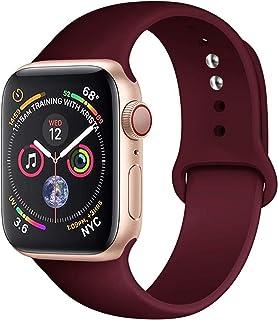 Correa de Silicona Aplicar a Apple Watch Band 44mm 40mm Correa Deportiva de Goma para iWatch 42mm 38mm Serie de Pulsera 5 ...