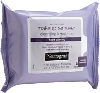 Lenço Demaquilante Night Calming, Neutrogena, 25 Unidades