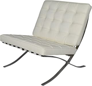 Modern Souces - Pavilion Barcelona Style Chair Replica Premium Leather White