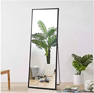 Beauty4U Full Body Mirror Full Length Floor Mirror Free Standing Black Dressing Mirror..