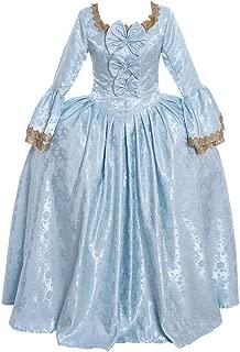 CosplayDiy Women's 18th Century Marie Antoinette Rococo Damask Cosplay Costume Dress