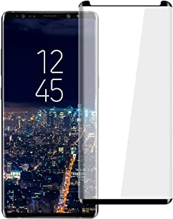 [2 Pack] HD Galaxy Note 9 Screen Protector,Tempered Glass for Samsung Galaxy Note 9 [3D Full Edge Covered] [9H Hardness] [Anti-Dirty] Case Friendly Glass Protector for Samsung Galaxy Note 9 (Black)