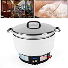 Commercial Rice Cooker, 10L Heavy Duty Electric 50 Cup Pressure Rice Cooker 2.8Kpa Gas Pressure Rice Cooker with Non-Stick Pan Suitable for Factories, Restaurants (US_Stock)