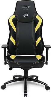 L33T Gaming Pro Excellence L-Gelb Gaming, Silla de Oficina, Negro