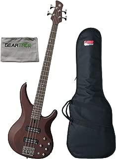 Yamaha TRBX504 TBN Translucent Brown 4 String Electric Bass w/Polish Cloth and