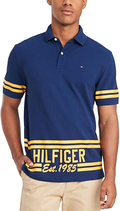 Tommy Hilfiger Mens Classic Fit Interlock Polo Shirt
