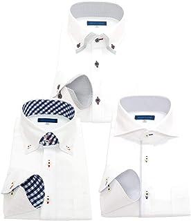 men's uno(メンズウーノ) 長袖ワイシャツ3枚セット 形態安定 ノーアイロン