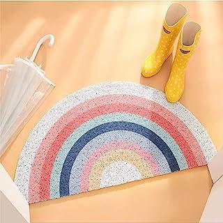 Rainbow Welcome Door Mat Rainbow Doormat Half Round Area Rug Rainbow Indoor Floor Mats Non Slip Bedroom Rugs Rainbow Entra...