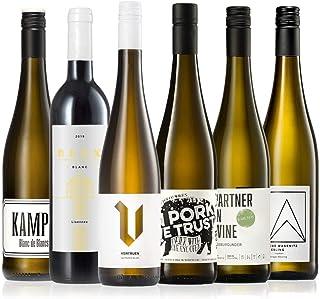 GEILE WEINE Weinpaket Weißwein 6 x 0,75 Probierpaket mit Weisswein von Winzern aus Deutschland, Frankreich und Italien