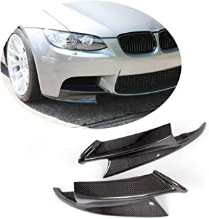 MCARCAR KIT Front Bumper Splitter fits BMW 3 Series E90 E92 E93 M3 2Door 4Door 2008-2013 Factory Outlet Carbon Fiber CF Upper Spoiler Winglets Vents Cover Cupwings Flaps