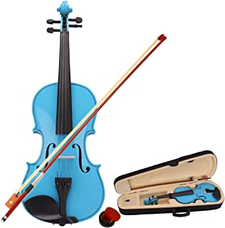 Teeker 4/4 Size Acoustic Violin for Beginner with Fiddle Case/Bow/Rosin (Sky Blue)