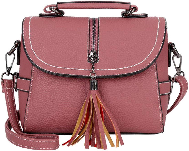 CLEBAO Pu, Tassel, one-Shoulder, Korean, Portable, Crossbody Bag