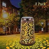 Lanterna Solare Esterno, Deaunbr LED Luci Solare Le luci solari da Giardino Lampada Vintag...