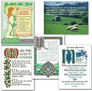Celtic Irish Blessings Greeting Card Collection Assorted Irish Cards 2 Each of 5 Designs