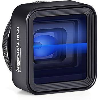 USKEYVISION スマホ アナモルフィックレンズ iPhone用1.33X アナモルフィックレンズ 2.4:1レシオアタッチメントレンズ FilMicPro/FotorCamアプリでスマホ撮影映画製作 (UVAL-1)