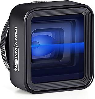 USKEYVISION スマホ レンズ アナモルフィックレンズ スマートフォン用カメラレンズ iPhone用 Android用映画撮影ビデオ1.33Xレンズ クリップ付属 (UVAL-1)