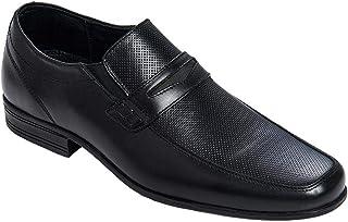 INCÓGNITA Zapato/Mocasín para Hombre de Vestir, en Piel Color Negro, Detalle en Perforado 055C22