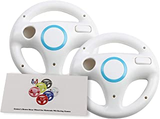 GH 2 Pack Mario Kart 8 Wheel for Nintendo Wii , Steering Wheel for Wii (U) Remote Plus Controlle - Original White (6 Colors Available)