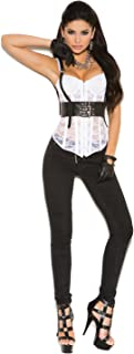 Elegant Moments Women's Leather Underbust Harness with Buckle Closure