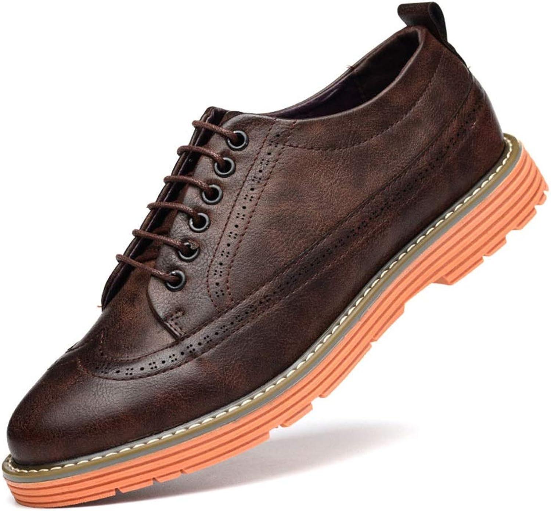 EGS-schuhe Einweghochzeitsschuhe Business-Abendschuhe, Herrenschuhe, One Foot,Grille Schuhe (Farbe   Braun, Größe   42)