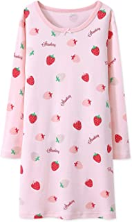 94557d6455 AOSKERA Girls  Fruit Nightgowns 100% Cotton Sleepwear for 3-10 Years