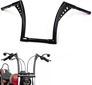 HTTMT HB02-1-1/4 Inches Fat 12 Inches Rise Ape Hangers Handlebar Compatible with Harley Sportster XL 1200 883