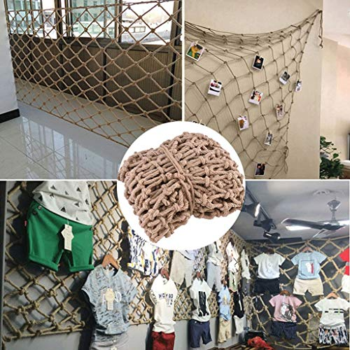 shh Safety net Safety Protection Netting Hemp Rope Net, Climbing Woven Rope Truck Cargo Trailer Mesh For Photo Wall Decoration Hanging Clothes Playground Protective net (Size : 2 * 6M)