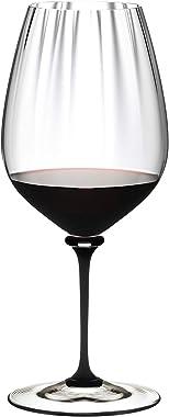 Riedel Fatto A Mano Performance Cabernet Copa de vino, 32 onzas, tallo negro