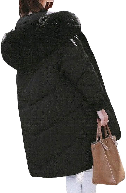 Firheas Women's Elegant Tailored Hood Plus Size Casual Down Puffer