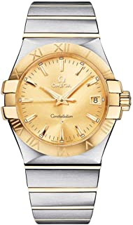 Constellation Champagne Dial Stainless Steel and Yellow Gold Ladies Watch 123.20.35.60.08.001