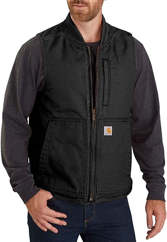 Carhartt Men's Our shop OFFers the best service Loose Fit Washed Duck Collar Vest Rib Insulated online shopping