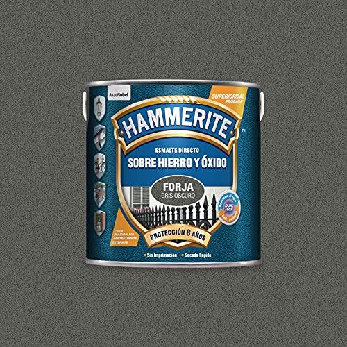 Hammerite Esmalte directo sobre hierro y óxido Forja Gris Oscuro 2,5 L